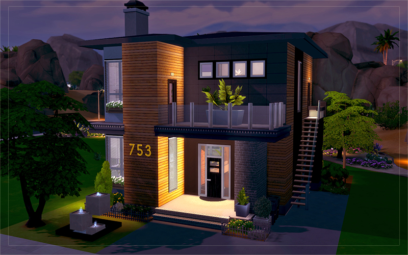 Contemporary Desert House | Sims 4 Houses