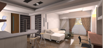高雄銘墅空間設計建議,全系統板材打造的客廳空間,兼顧健康,具有設計感又耐用。