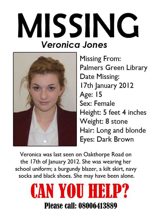 Go Back > Gallery For > Missing Poster Template