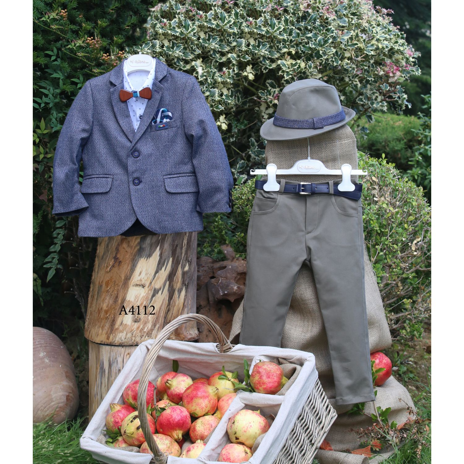 Baptismal suit for winter christening A4112