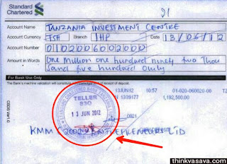 Bank slip pass signature by bank employee