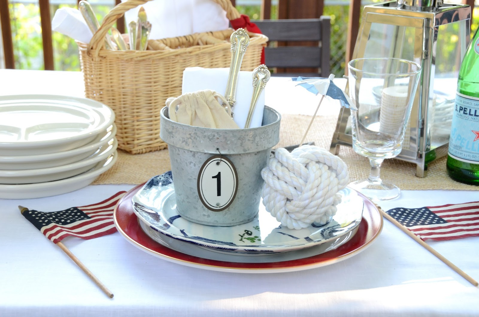 Iron Amp Twine Nautical Table Setting 4th Of July