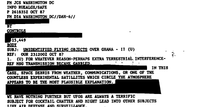 More UFO Files Lost, says U.S. Government