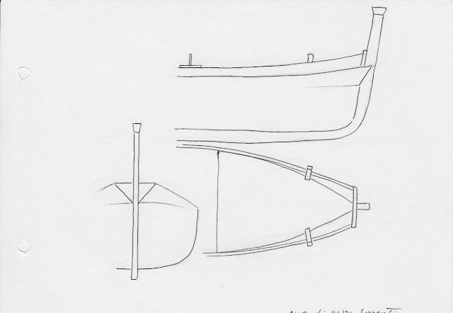 disegno di aldo e corrado cherini fatto a mano libera del gozzo sorrentino