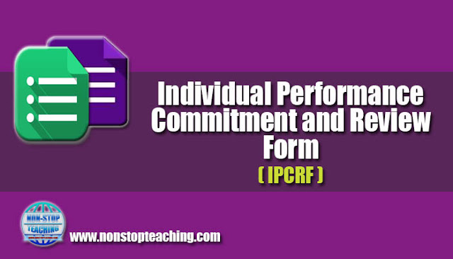 Individual Performance Commitment & Review Form (IPCRF)