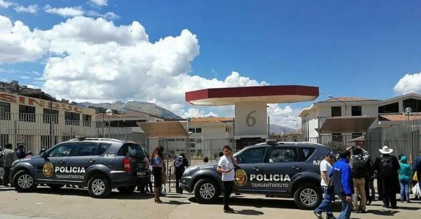 Policía desarticula banda que intentaba ingresar respuestas al examen de admisión de la UNSAAC