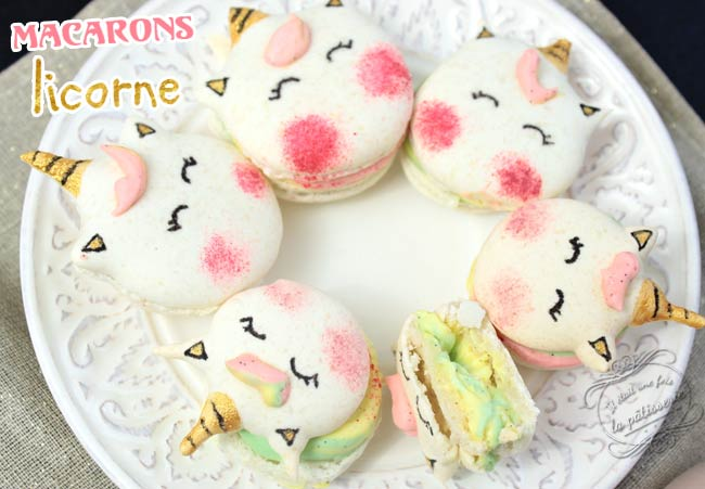 macaron licorne