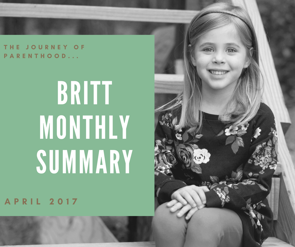 Britt Monthly Summary: April 2017