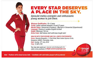 spicejet walk in interviews