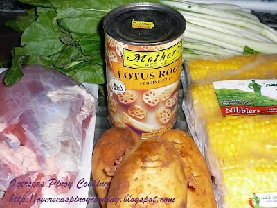 Nilagang Baka with Lotus Root - Cooking Procedure