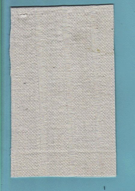 White cotton fabric cut to size for dollhouse mattress