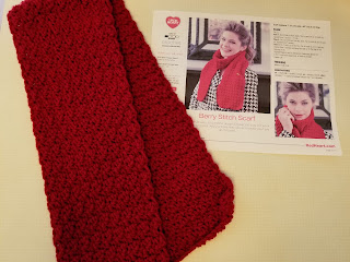Free Crochet Pattern Berry Stitch Scarf for Beginner