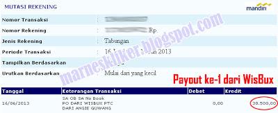 Payout Perdana dari PTC WisBux
