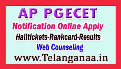 AP PGECET  Notification Exam Dates Admission Admitcard Results