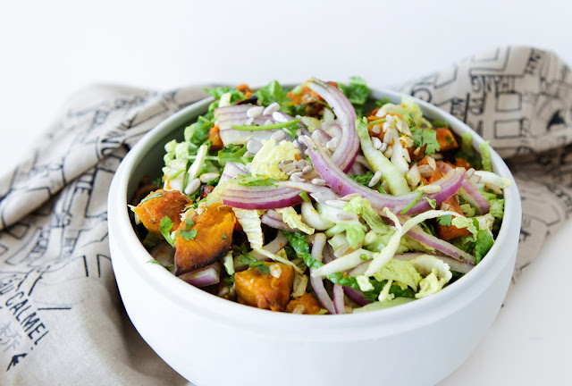 Roast Pumpkin & Chinese Cabbage Salad