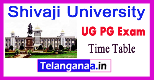 Shivaji University Kolhapur UG PG Exam Time Table 2017
