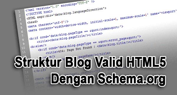 Kerangka Blog Valid HTML5