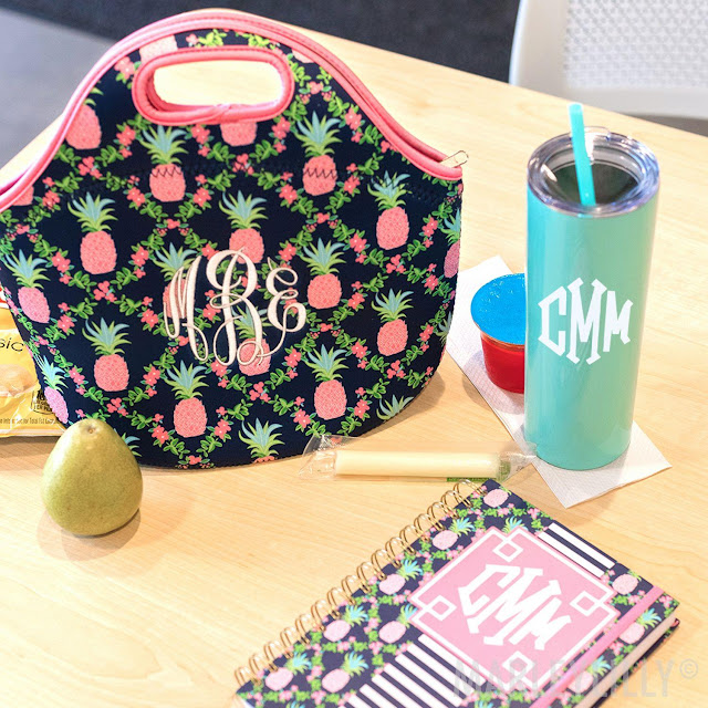 A Monogrammed Lunch Bag