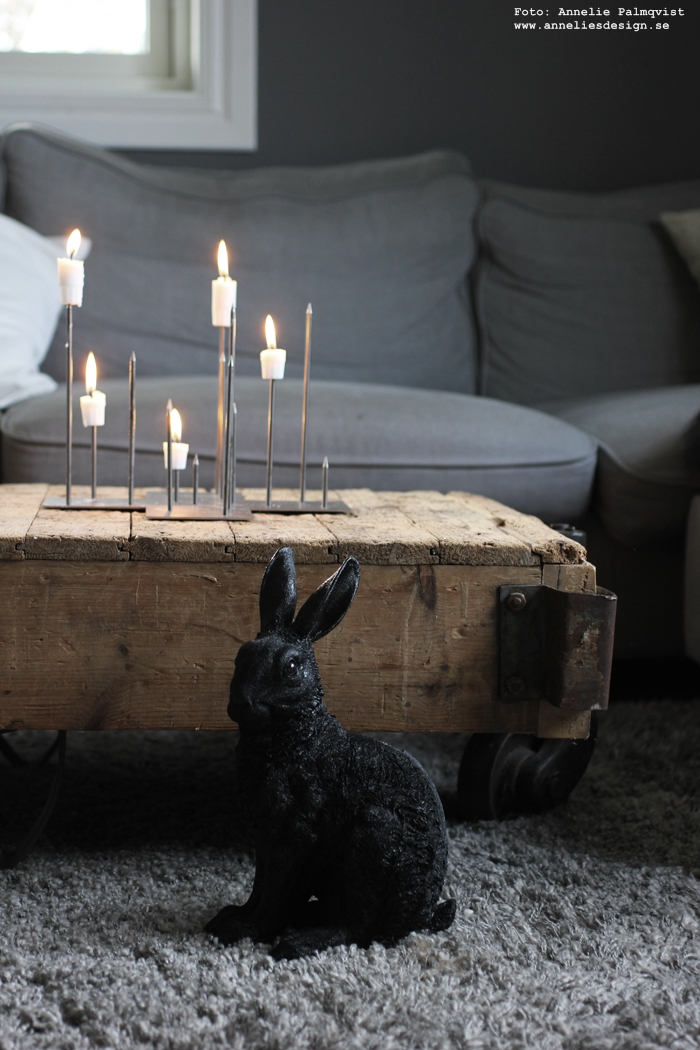 annelies design, webbutik, kanin, sparbössa, kaniner, inredning, webshop, nätbutik, varbdagsrum, ljusstake, candle cross, ljusstakar, stumpastake,