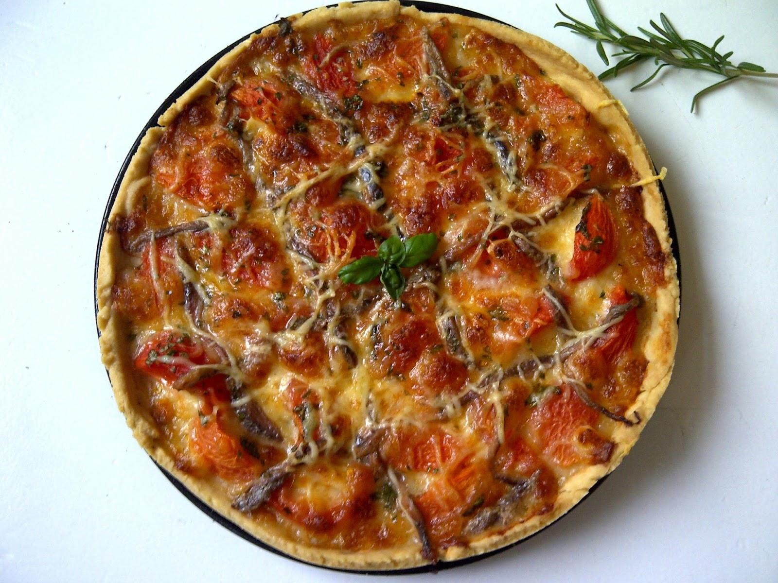 tomatentaart mozzarella ansjovis