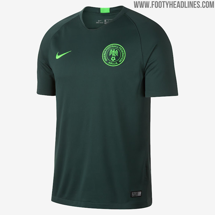 b36da5ada 1 of 2. 2 of 2. 1 of 2. The Nigeria 2018 away jersey is based on the 2018  Vapor Aeroswift template and comes in ...