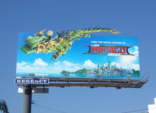 Lego Ninjago dragon billboard