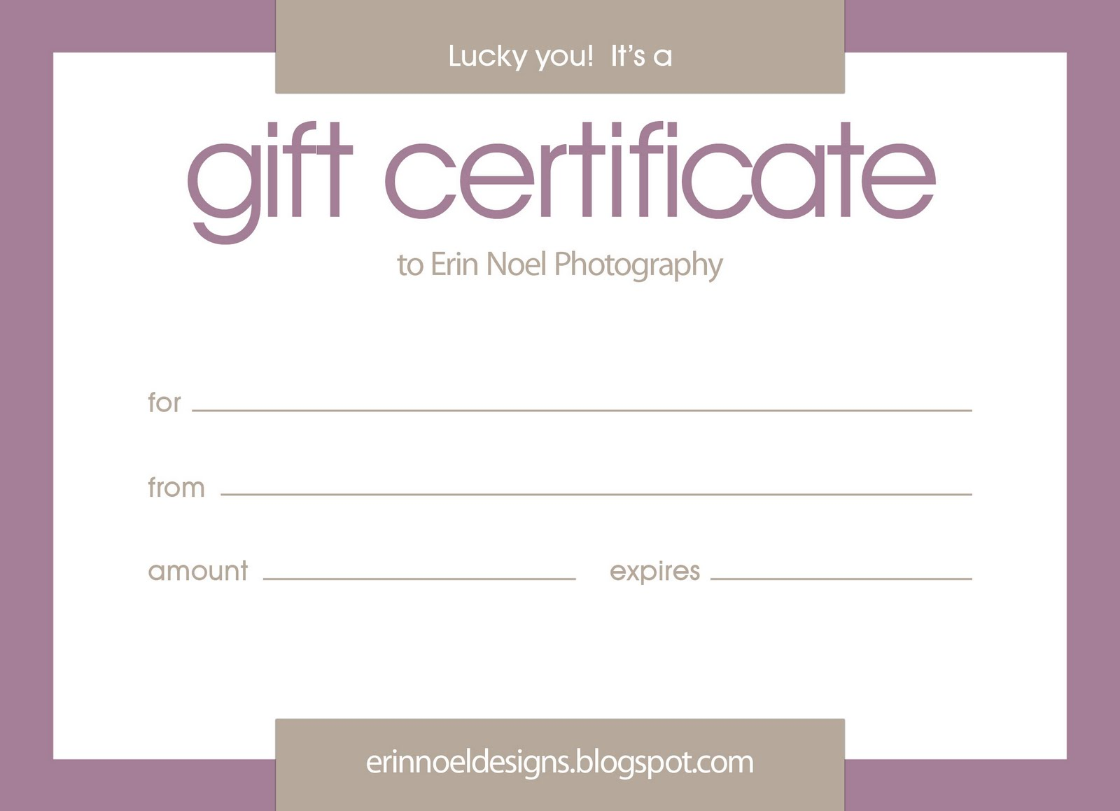 Photo Session Gift Certificate Template Free Gift