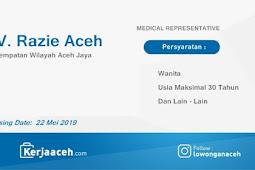 Lowongan Kerja Aceh Terbaru 2019 Apoteker Gaji 2 s.d 3 Juta di CV Razie Aceh