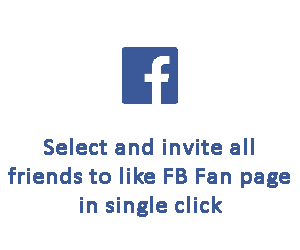 Select and invite all friends to like FB Fan page in single click