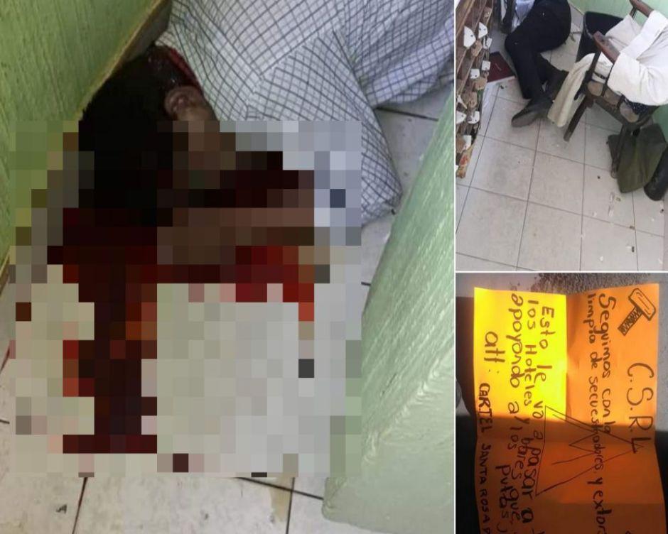 """Sicarios de """"El Marro"""" ejecutan a balazos a recepcionista de motel en Guanajuato."""