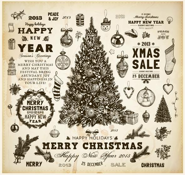 Descarga Elementos Vintage Para Navidad Ixousart - Vintage-navidad
