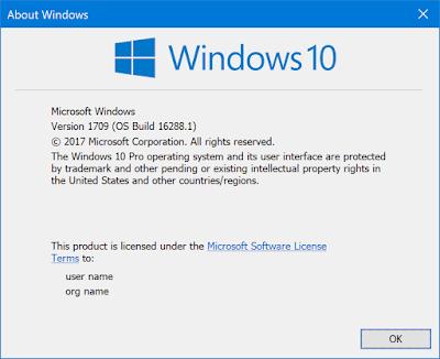 Tidak Ada Lagi Watermark Pada Windows 10 PC Build 16288 yang dirilis ke Slow Ring