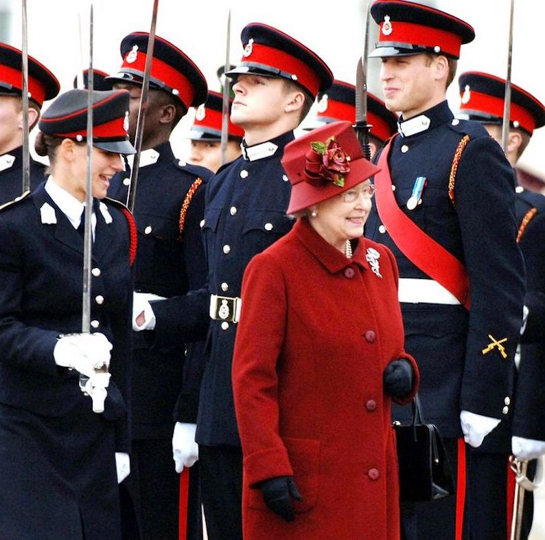 The Queen inspected Sandhurst military college. Prince William smiles while standing at attention. Everybody Knows That and other stories of Grandmas and Reason marchmatron.com