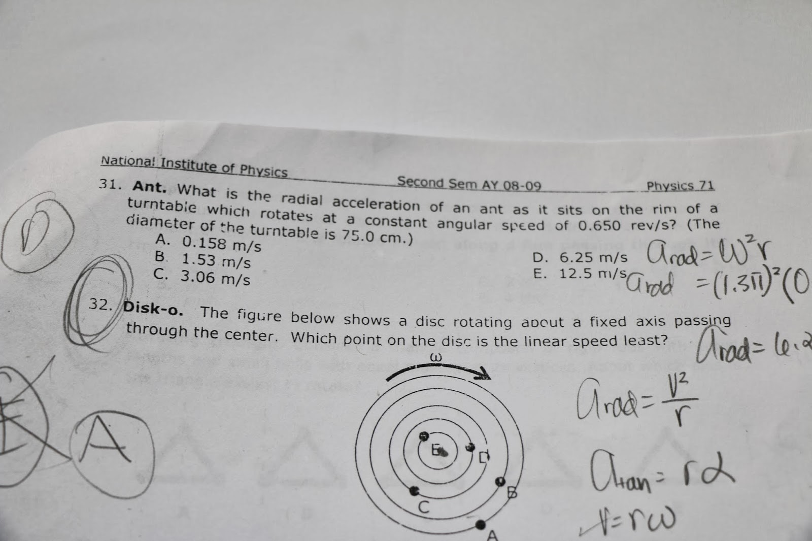 UPD Samplexes, Readings, and Materials: UPD Physics 71