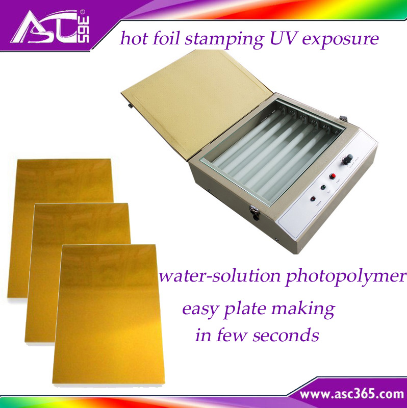 hot stamping making plate UV exposure water-solution photopolymer