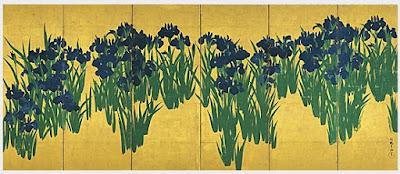 JMusic-Hits.com Rinpa x Kourin : Folding screens with Iris