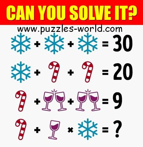 Ice Snow Candy Wine Puzzle
