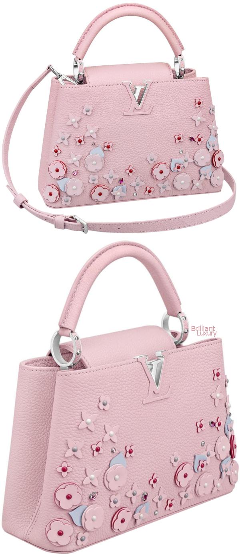 Brilliant Luxury♦Louis Vuitton Capucines BB bag #pink
