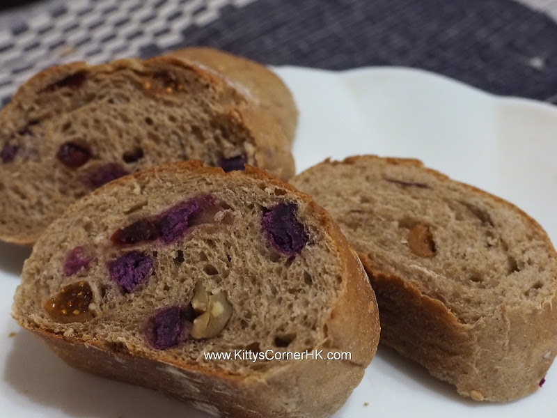 Dark Rye Bread with Dried Fruits DIY recipe 乾果黑麥法包 自家烘焙食譜