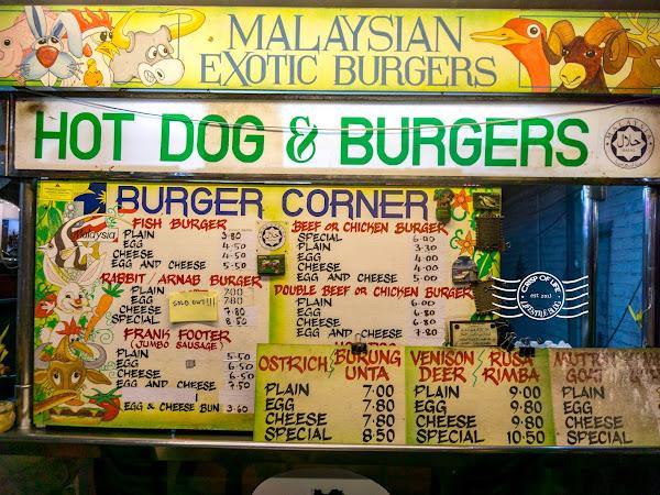 Malaysian Exotic Burgers @ Batu Ferringhi, Penang