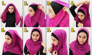 kumpulan gambar foto tutorial hijab pashmina