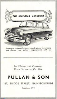 Pullan & Son - Standard Vanguard advert from 1953