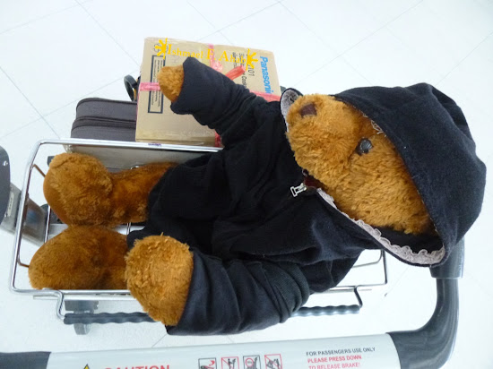 Teddy bear in Suvarnabhumi Airport (Bangkok)