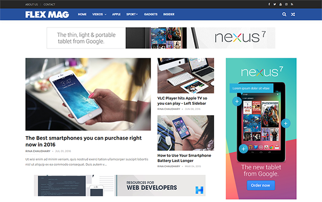 Download FlexMag Responsive Blog or Magazine Blogger Template Free