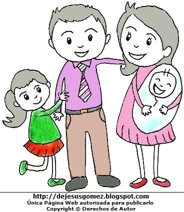 Dibujos de hijos con sus padres por Jesus Gómez