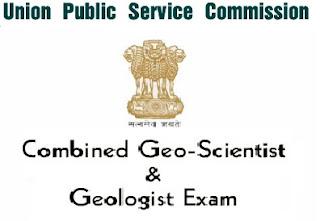 UPSC Geologist & Geo-Scientist Exam Notification 2017 Apply Online