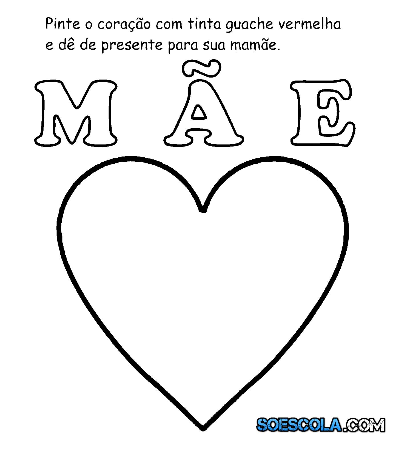 Atividades Dia Das Maes Para Educacao Infantil So Escola