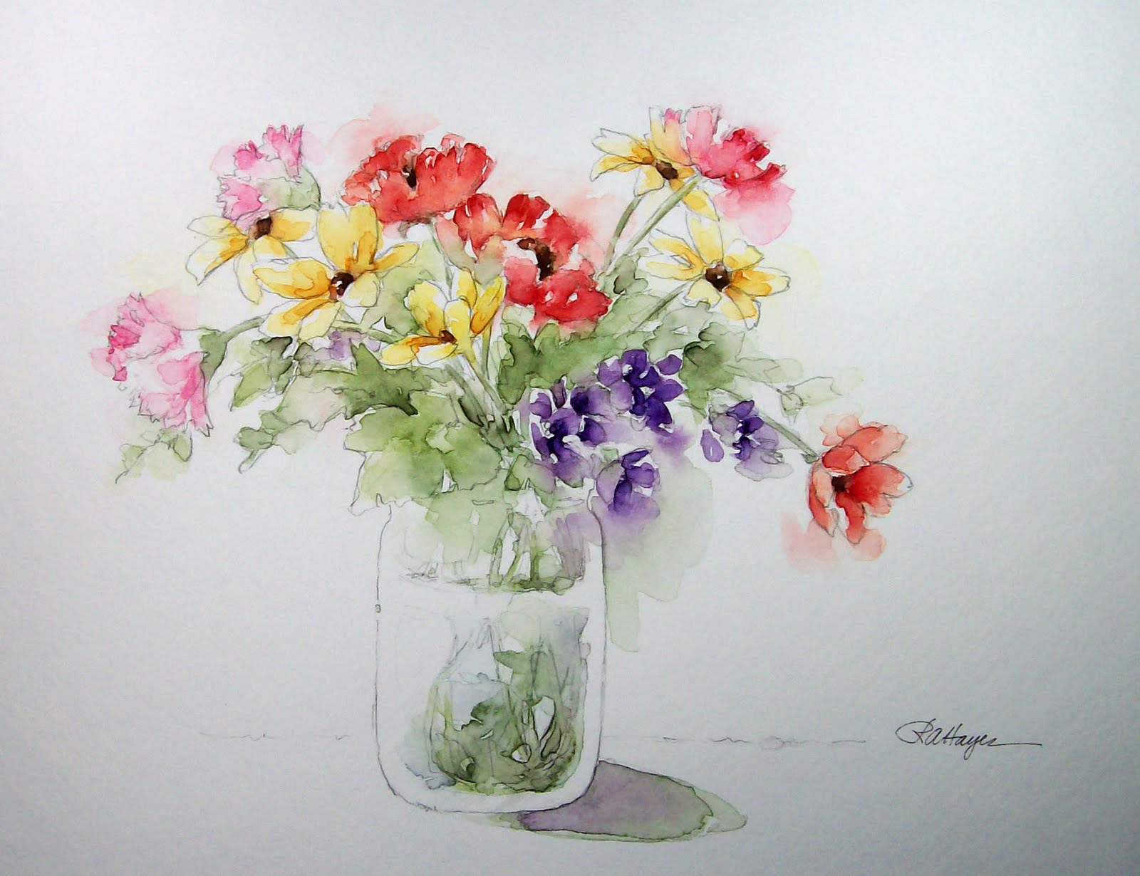 Watercolor Flower Paintings