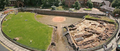 Chester Amphitheater - Roman Ruins in England Britain