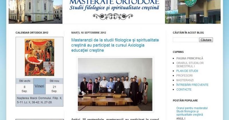 Blogosfera Creştină Ortodoxă  Blogul programului de masterat Studii  filologice și spiritualitate creștină f9c0c7355b5a5